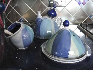 Blå keramik
