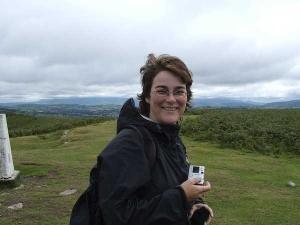 Kristina Svensson i nationalparken Brecon Beacon.