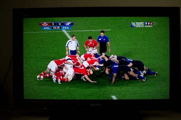 seminfinal Frankrike-Wales i rugby-VM